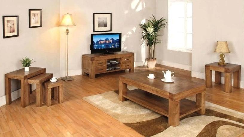 Oak Living Room Furniture wooden living room furniture sets ...