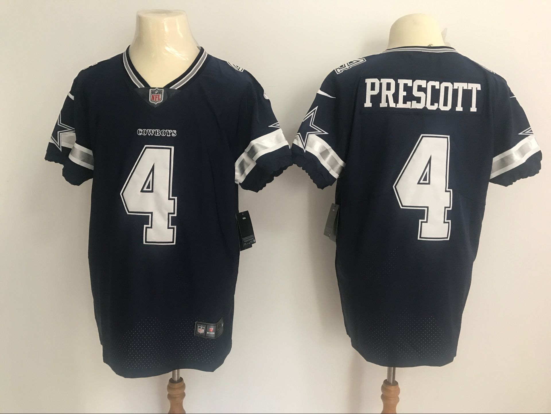 cheaper fc14d f5878 Men's Dallas Cowboys #4 Dak Prescott Nike Navy Vapor ...
