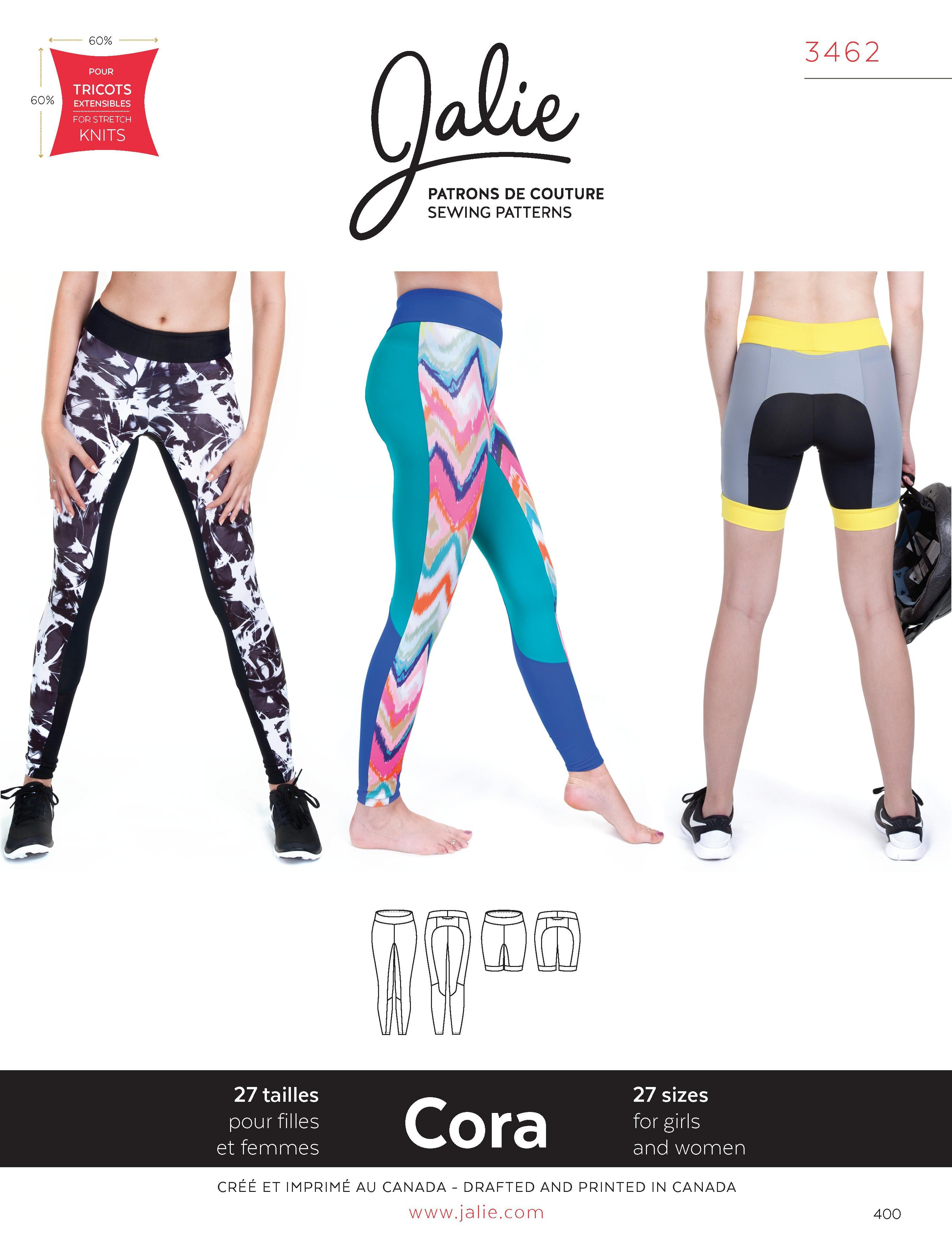 Jalie 3462 - Cora Running Tights and Shorts - Pattern Cover ...