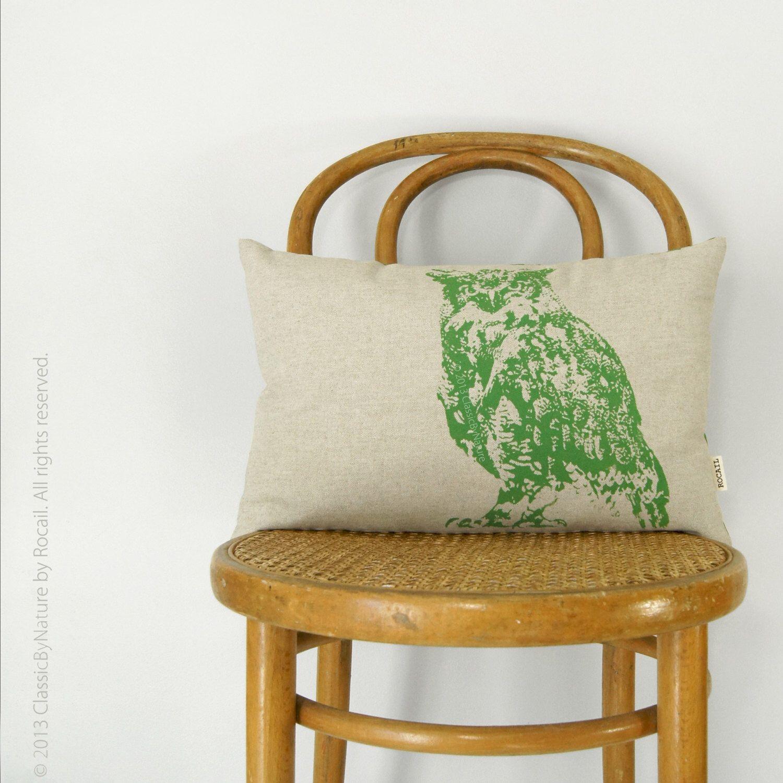 Etsy Throw Pillows 12x18 Owl Decorative Throw Pillow Case Modern Home Decor