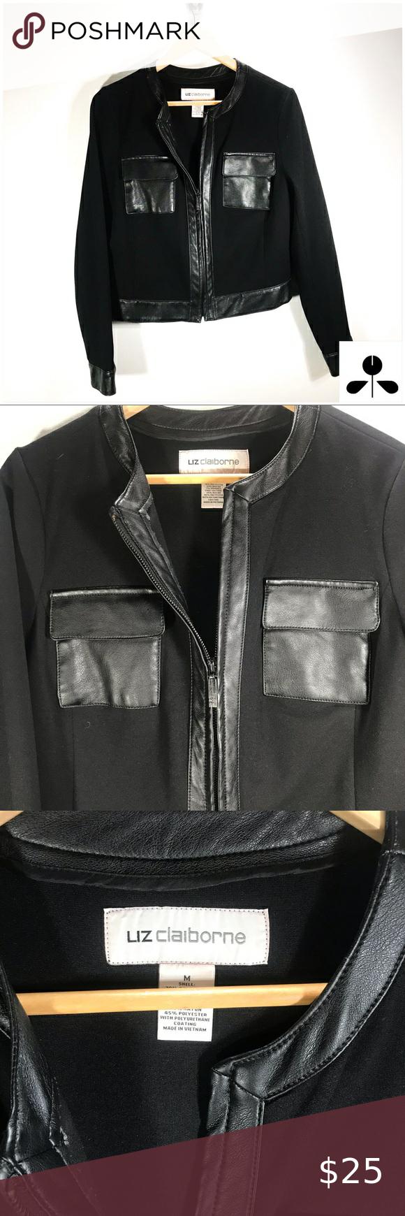 Liz Claiborne Jacket In 2020 Liz Claiborne Zip Ups Claiborne