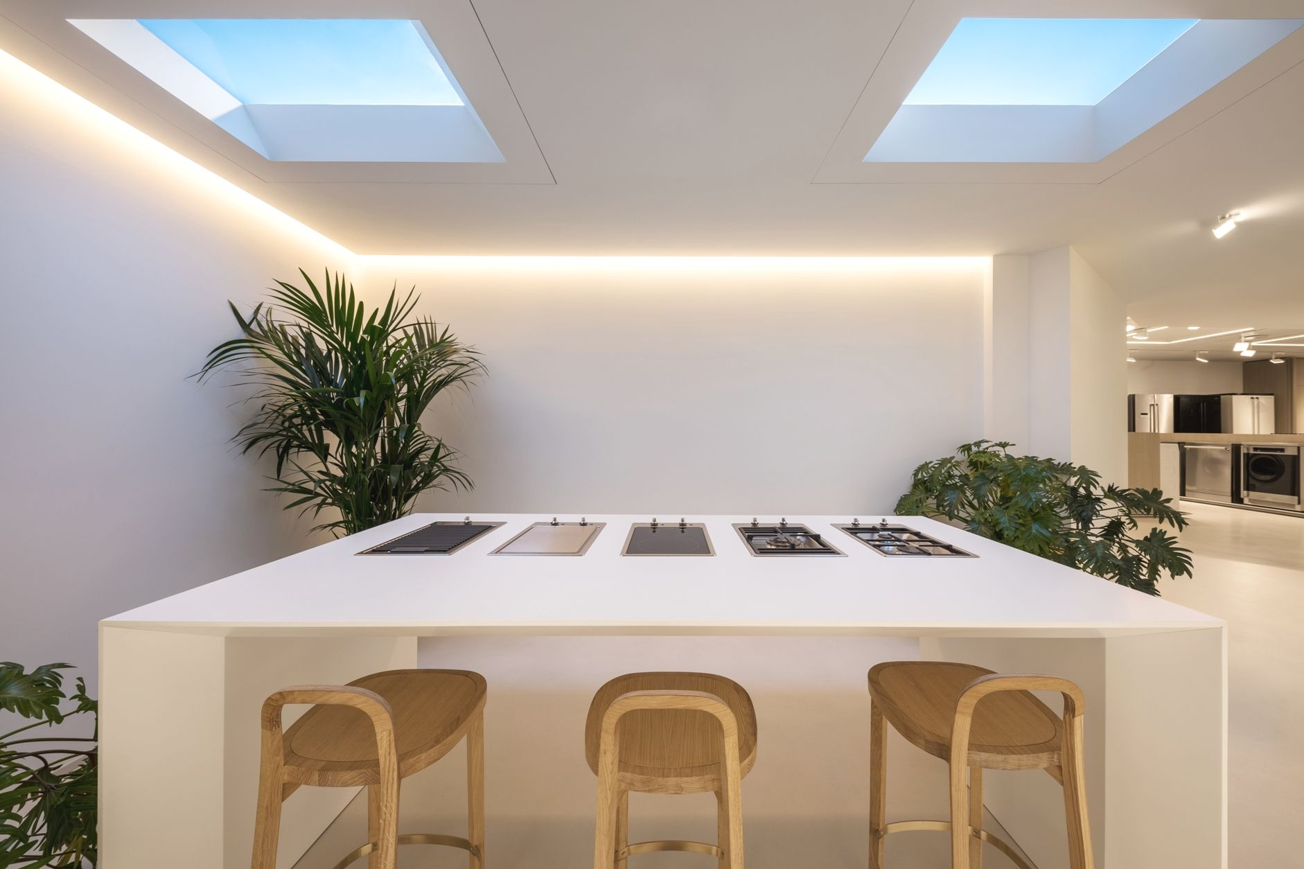 Lighting Technology That Goes Beyond Form And Function And Can Make Any Kitchen Sunny The Coelux Artificial Skylights Skylight Residential Design House Design