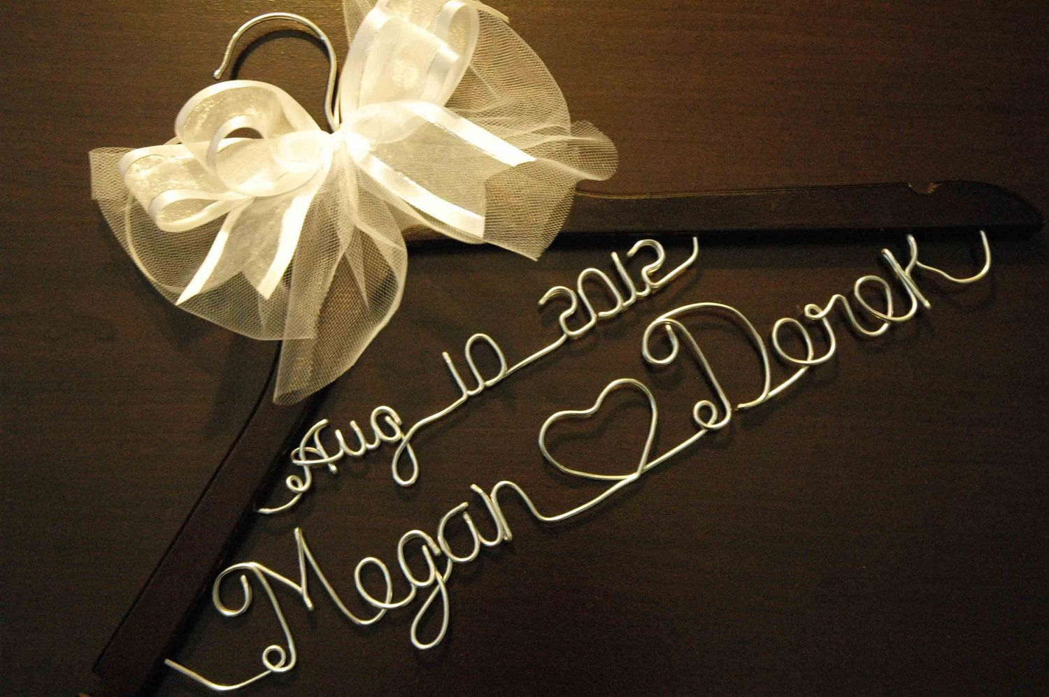 Personalized Custom Bridal Hanger With Date Brides Bride Wedding