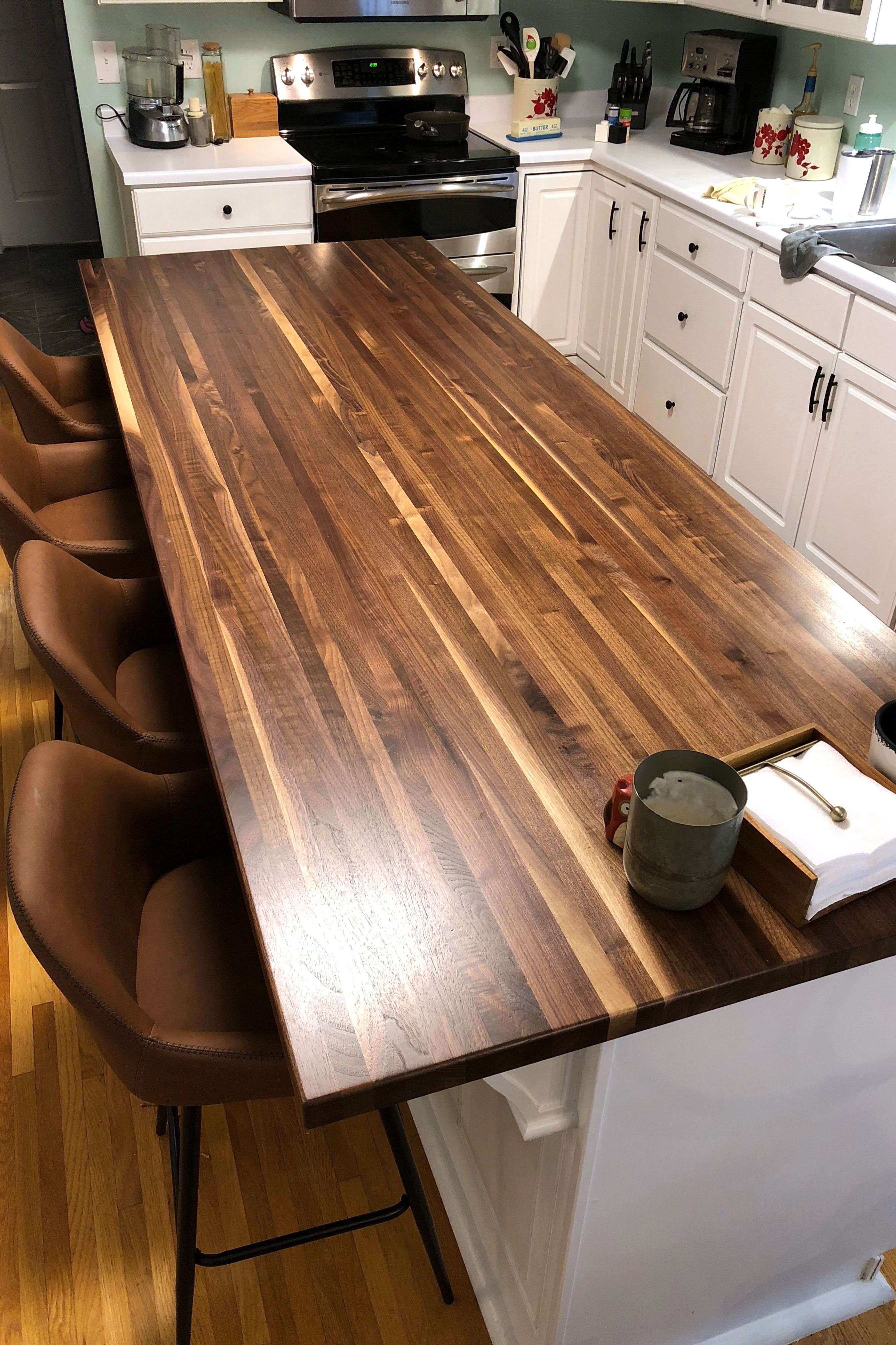 Rustic Walnut Edge Grain Butcher Block Countertop In 2020 Wood