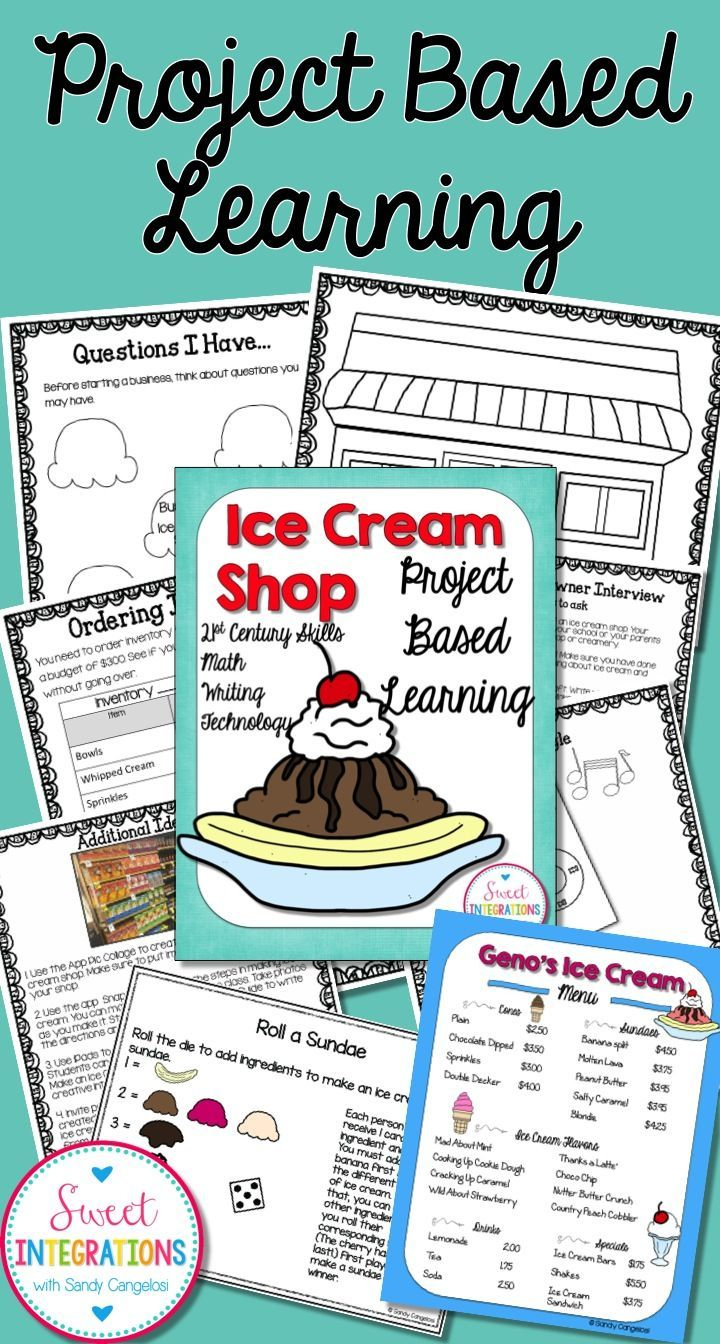 Open An Ice Cream Shop Project Based Learning Math Project Based Learning Project Based Learning Math Project Based Learning Elementary