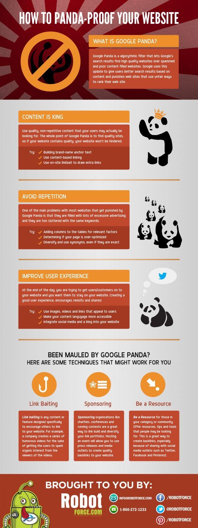 Cómo Google Panda prueba tu sitio #infografia #infographic #seo