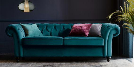 Gosford Oned Medium Sofa Seats Antique Velvet Dark Charcoal Low Turned Light From The Next Uk Online