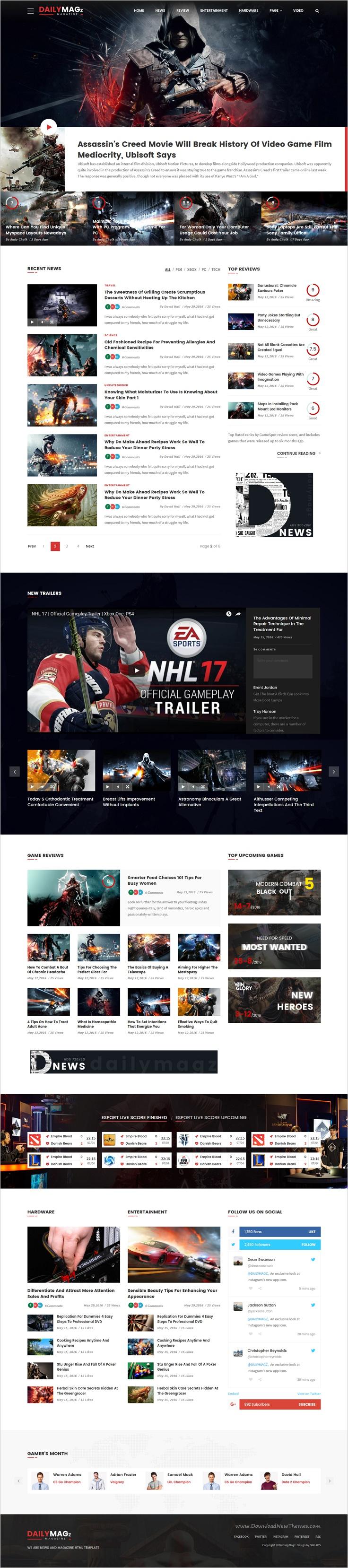 DailyMagz - News & Magazine HTML Template | web design ideas ...