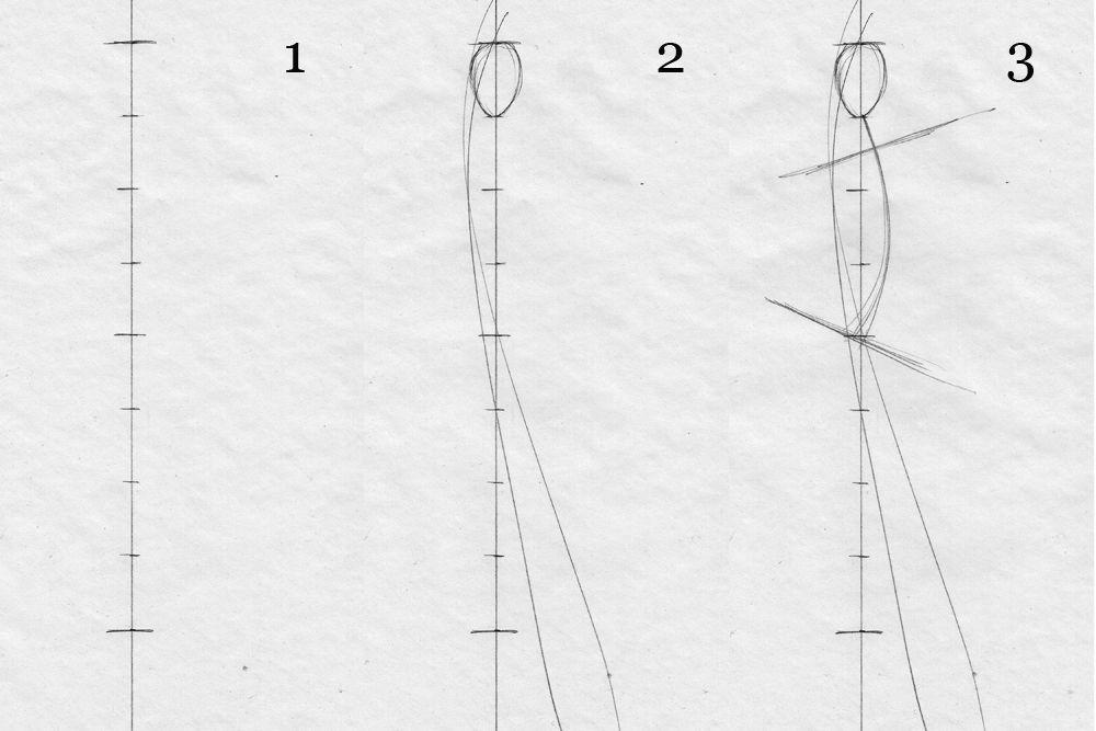 how to draw fashion figure stepbystep fashion