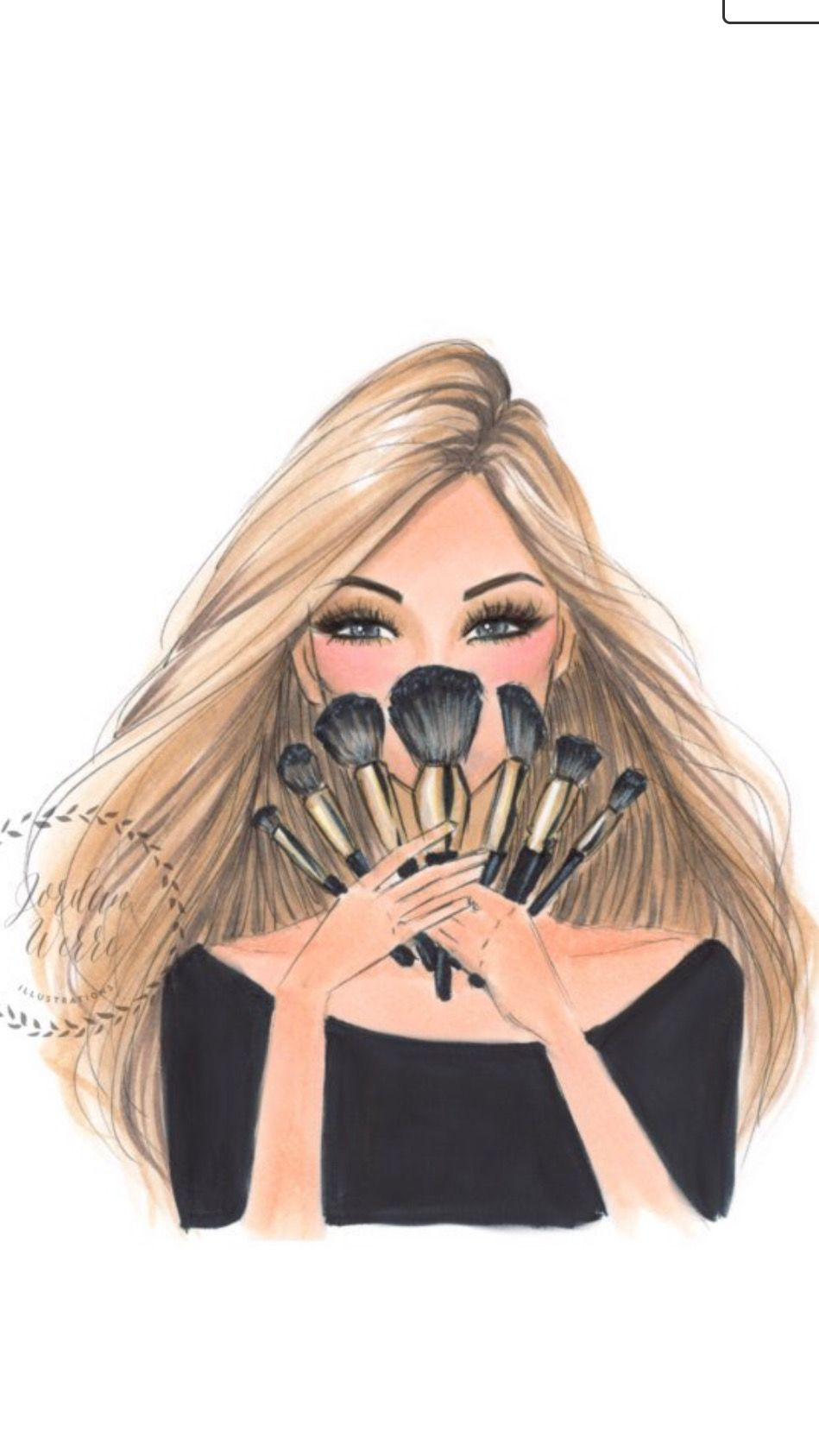 Studiya Ilustracao De Maquiagem Ilustracoes De Moda Desenho De