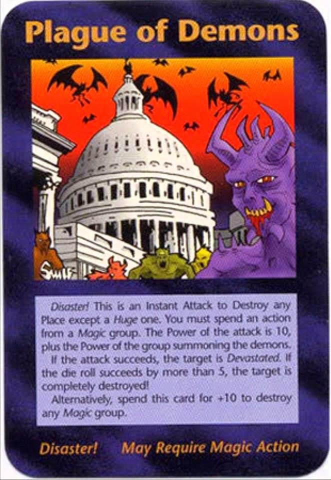 """Has """"Plague Of Demons"""" Illuminati Card Game Card Been Unleashed Upon America?"""