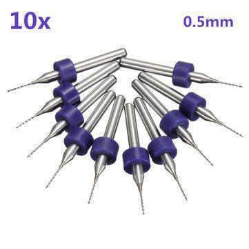 10pcs 0 5mm mini pcb drill bits for cnc print circuit board tungsten10pcs 0 5mm mini pcb drill bits for cnc print circuit board tungsten steel