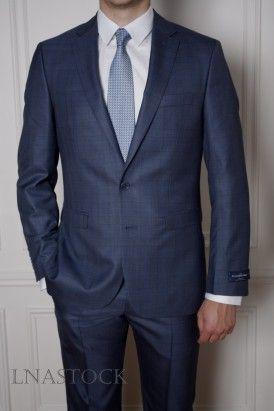 Costume tissu Ermenegildo Zegna Cloth bleu  1d14216aed2