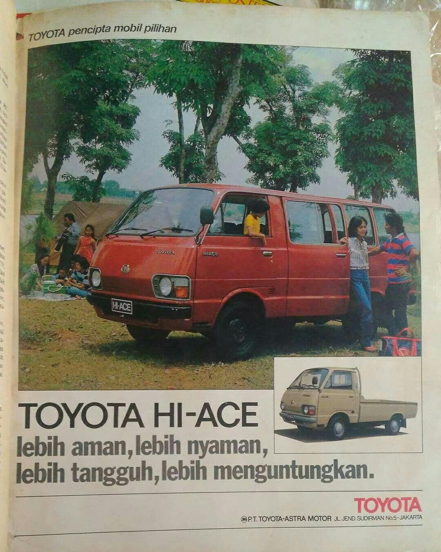 Toyota Hiace Mobil Periklanan Iklan Zaman Dulu