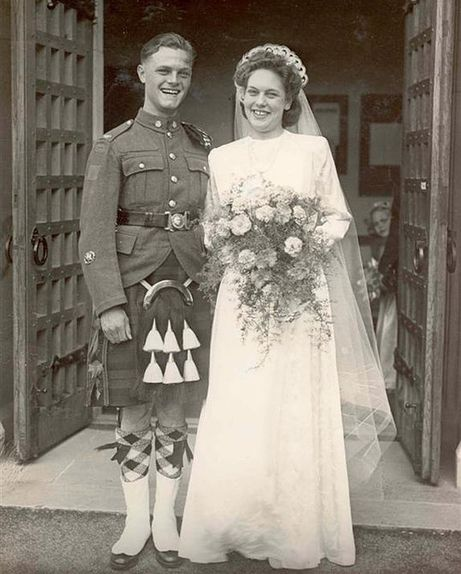Vintage Wedding Dresses Canada: I'll Bet The Groom Endured All The Typical Jokes About