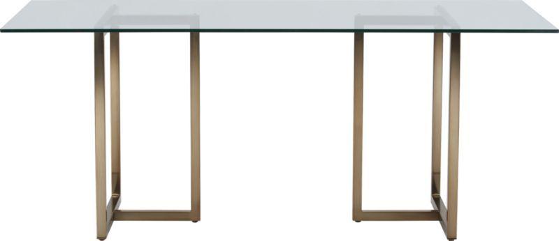 Silverado Brass Rectangular Dining Table - Silverado rectangular coffee table