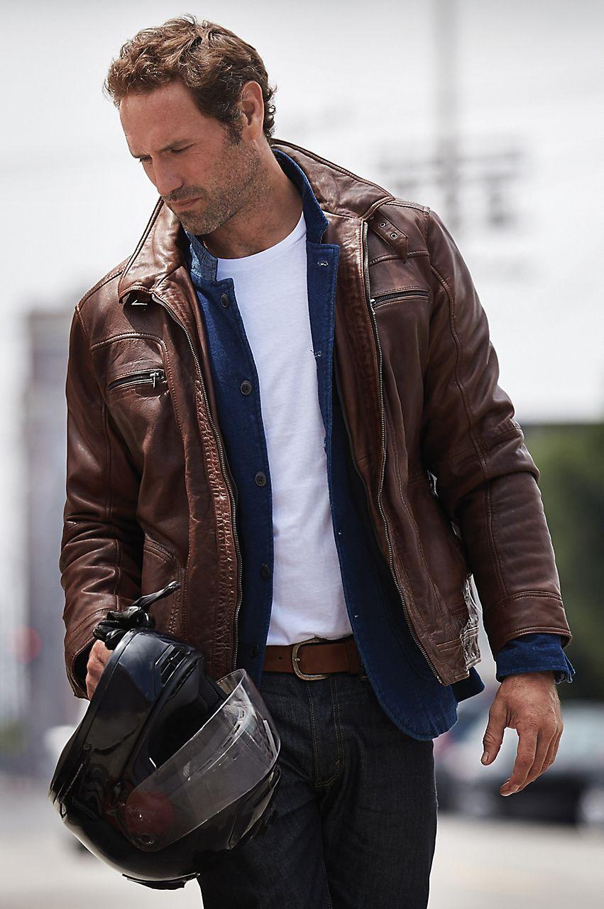 Memphis Lambskin Leather Bomber Jacket Overland