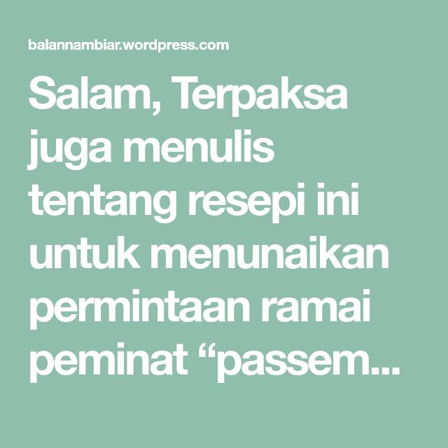 Resepi Cucur Passembur Rojak Mamak Cooking Inbox Screenshot