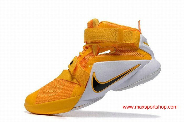 1a6fc597a05a Nike Zoom LeBron Soldier 9 Yellow White Mens Basketball Shoes