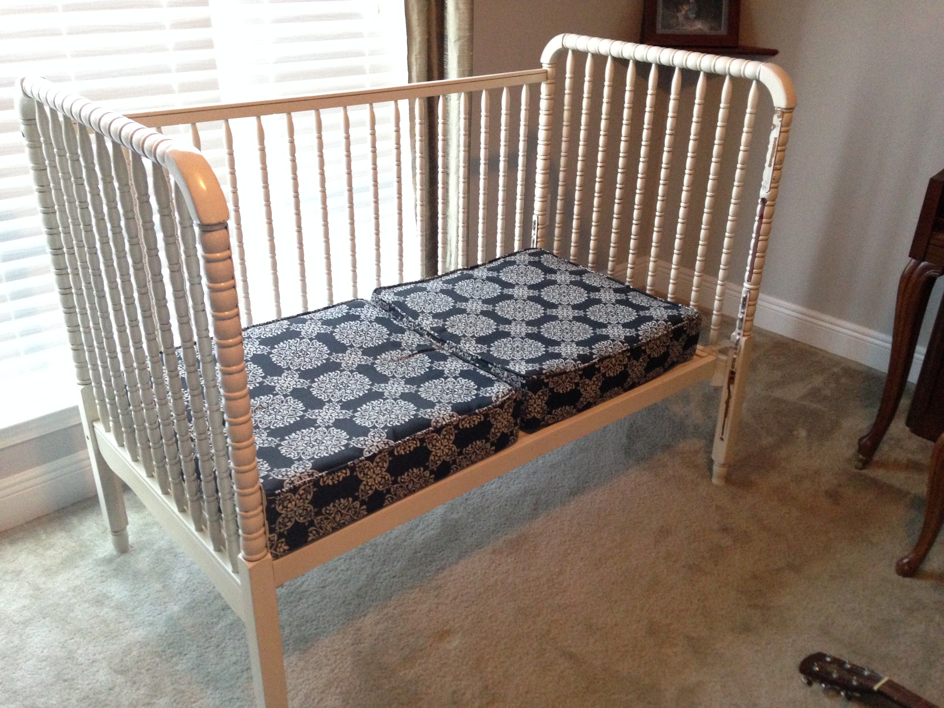 How to convert a Jenny Lind crib to a bench or a daybed ...