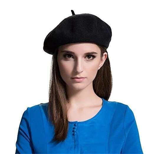 Cappello basco francese nero DoubleBulls  0b0e3cb5864f