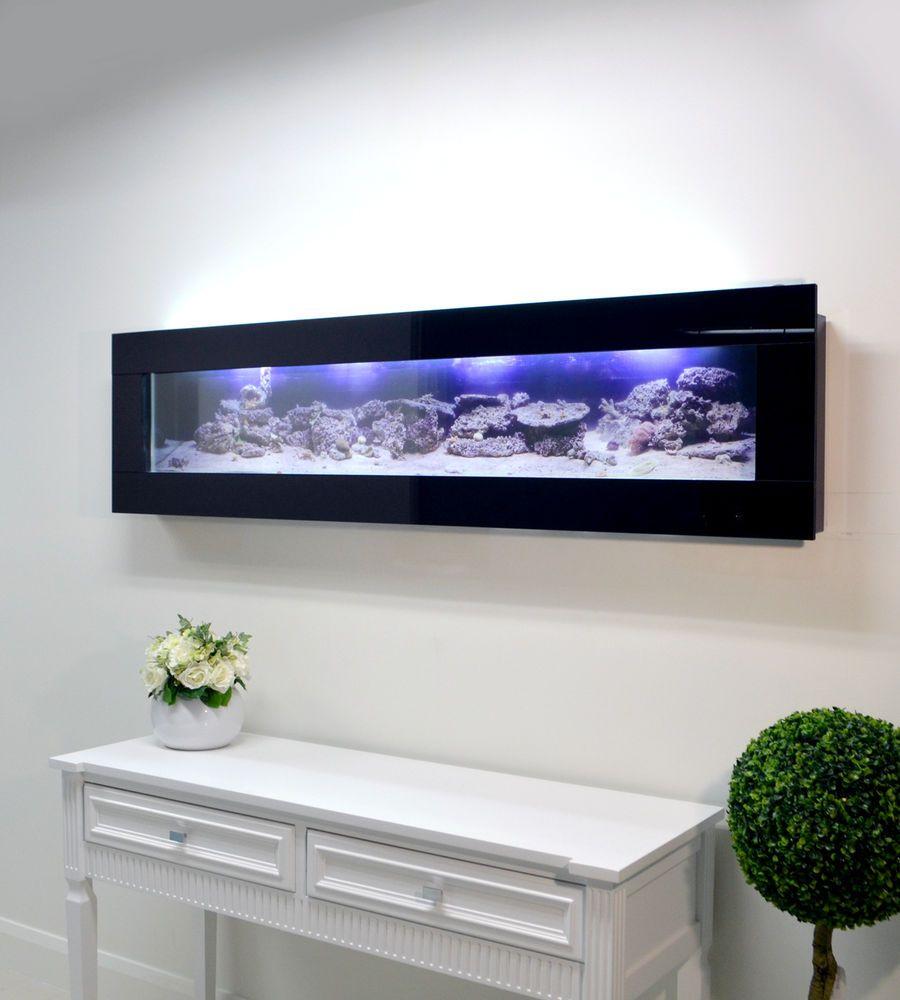 BLACK 900mm 3ft NEW DESIGNER ARTIST WALL PLASMA AQUARIUM FISH TANK ...