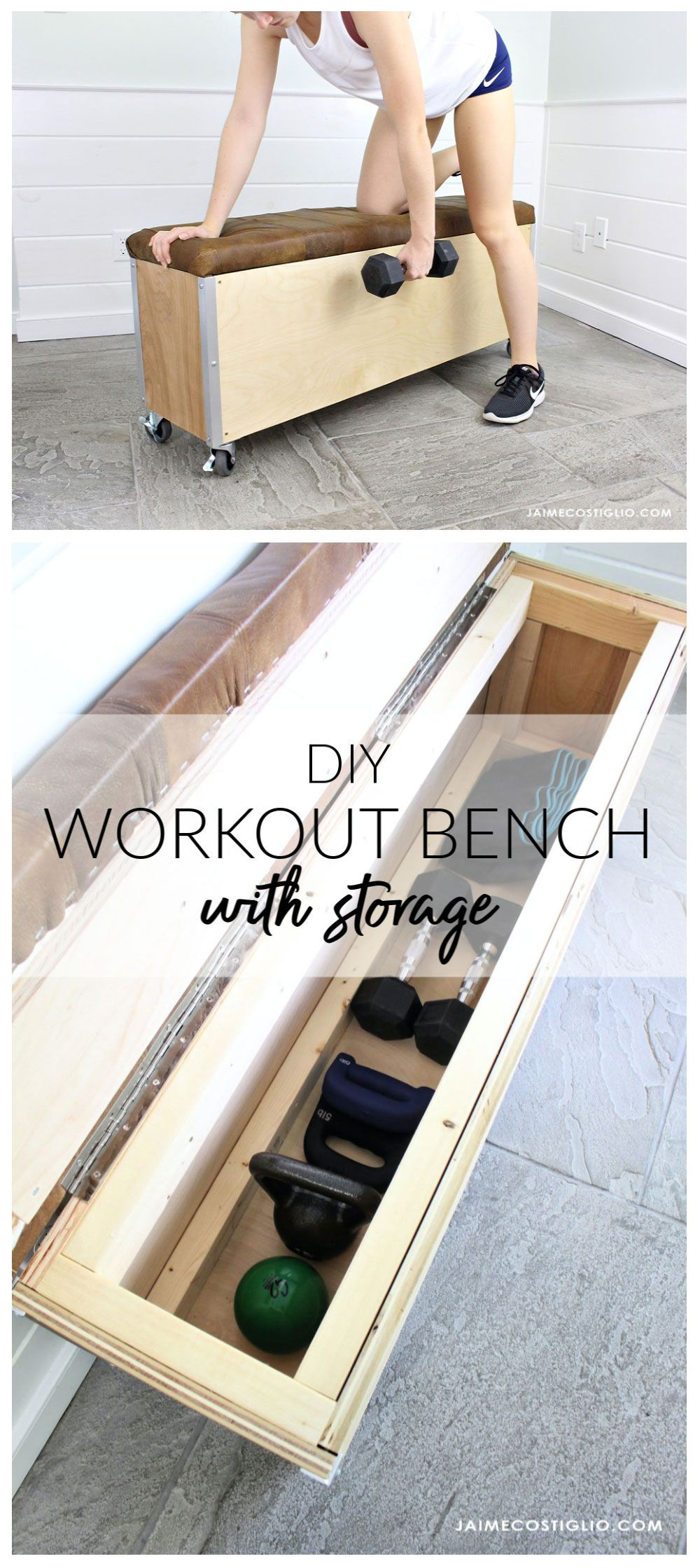 Photo of DIY Workout Bench with Storage – Jaime Costiglio