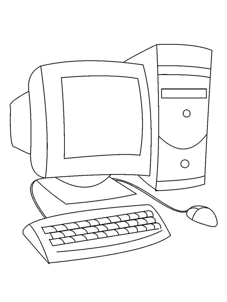 Computer Keyboard Coloring Pages Who Doesn T Know A Computer