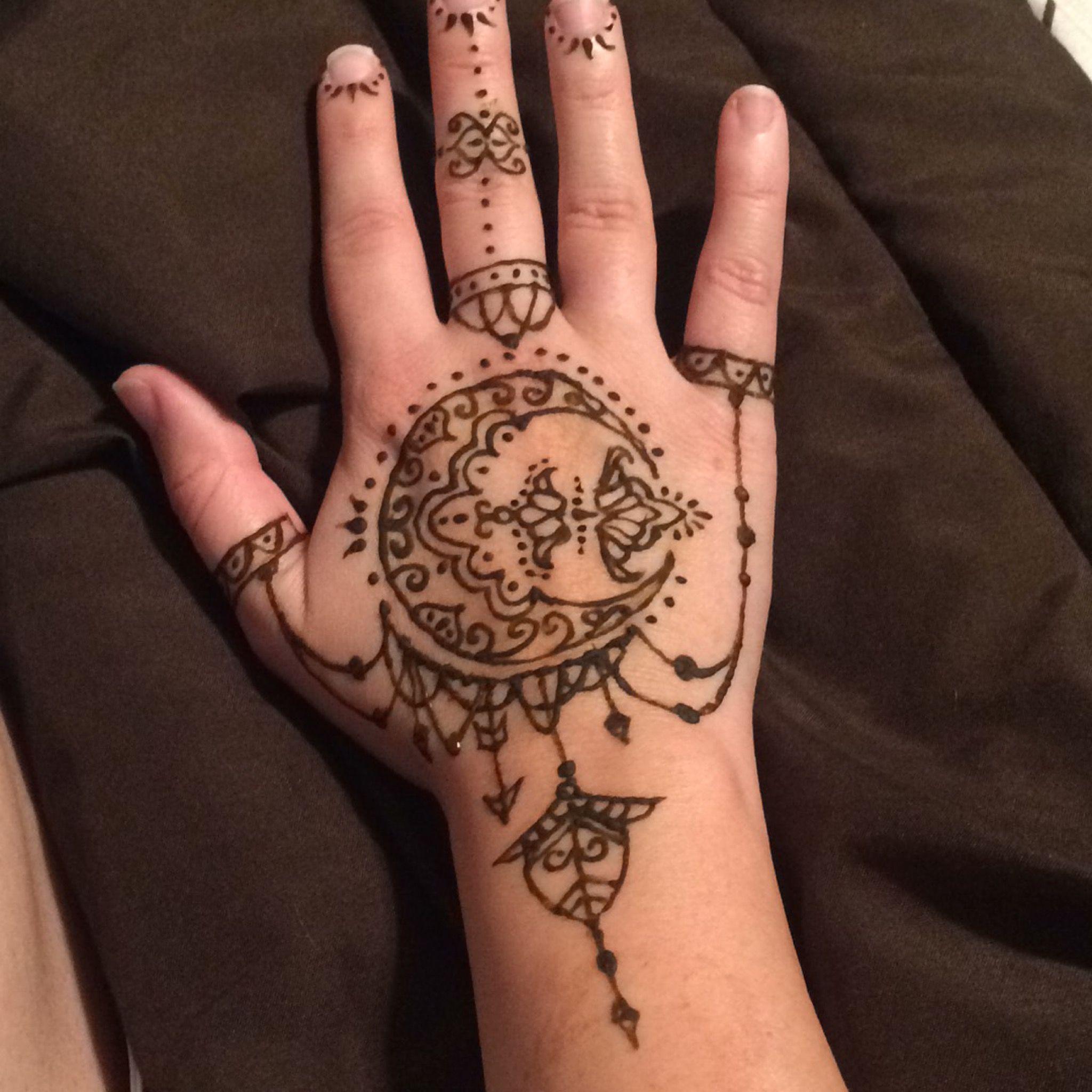 Crescent Moon Henna Tattoo Jordan Toczek Henna Designs