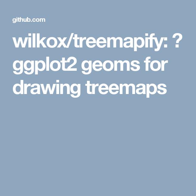 wilkox/treemapify: 🌳 ggplot2 geoms for drawing treemaps | ggplot2