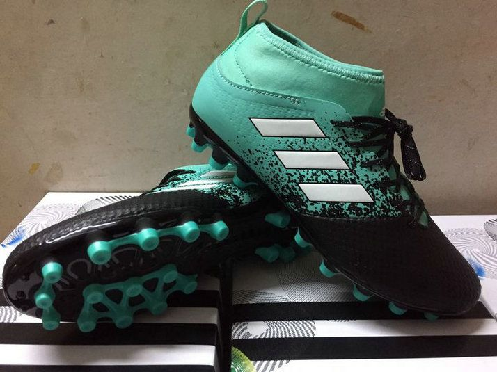 pretty nice fd1a5 ae312 Adidas ACE 17 3 Artificial Grass Boots Mens Football Shoes S77063 Energy  Aqua Footwear White Legend Ink