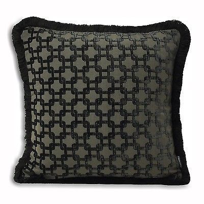Art deco #cushion covers velvet #chenille thick & heavy #belmont black grey,  View more on the LINK: http://www.zeppy.io/product/gb/2/311680607764/
