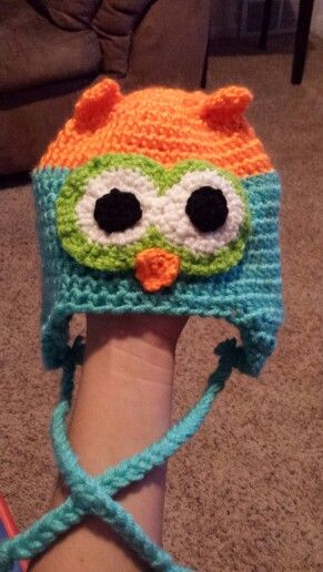 Sister made this owl hat for my son , he loves it :)