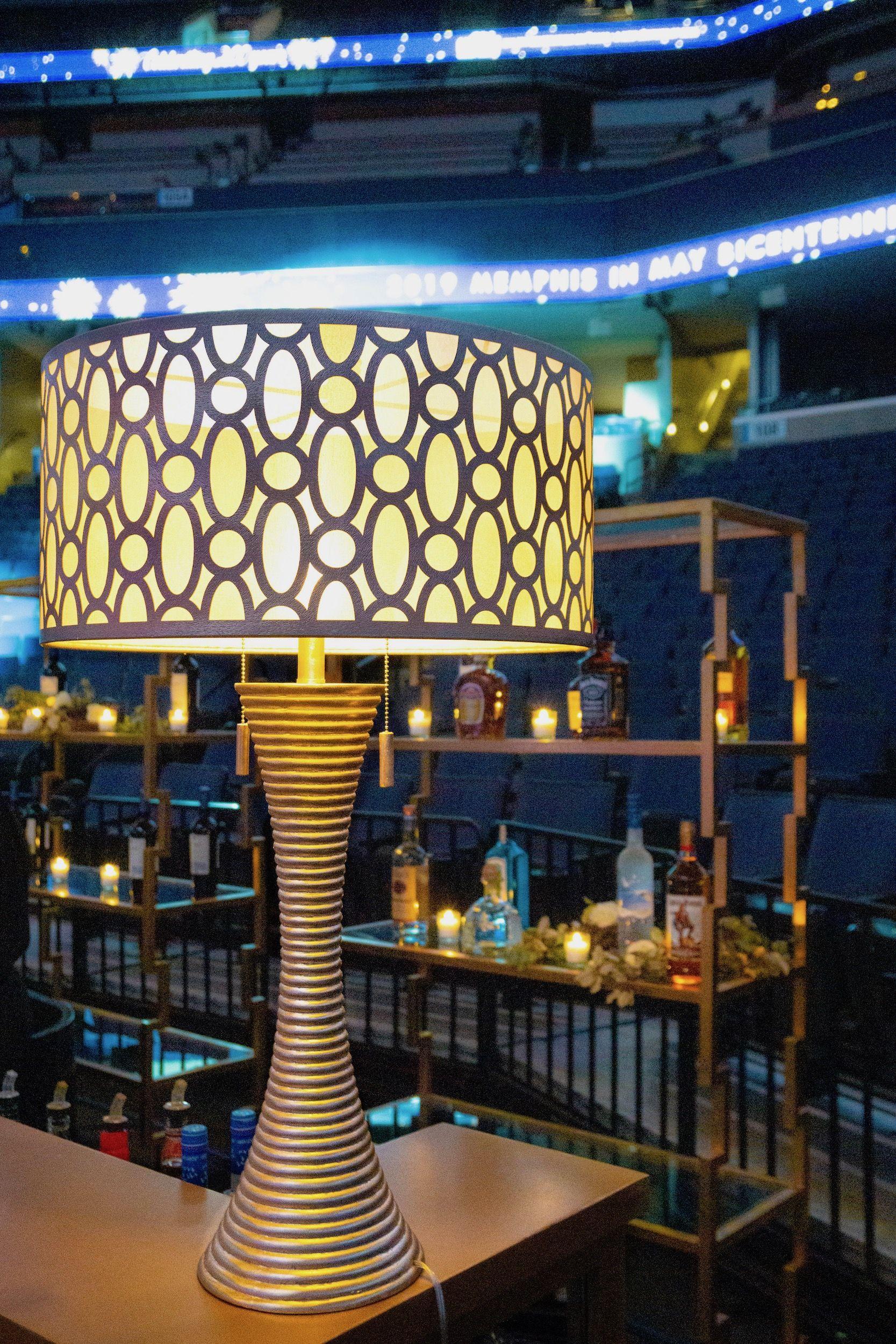 Art Deco Style + Glowing Gold Lamp Decor Lighting Gala