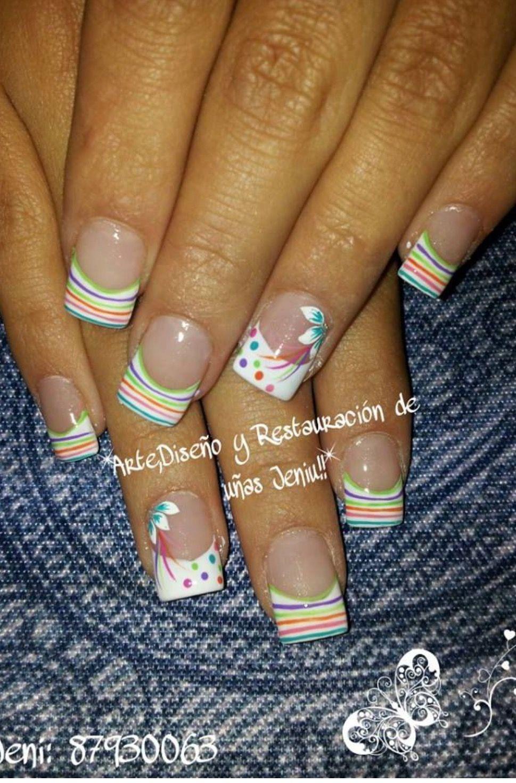 Pastel lines | Beauty | Pinterest | Pastels, Nail nail and Spring nails