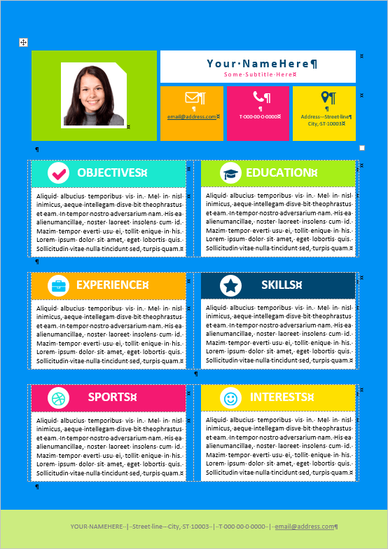 First Resume Template For Kids With Templates Sample Customer
