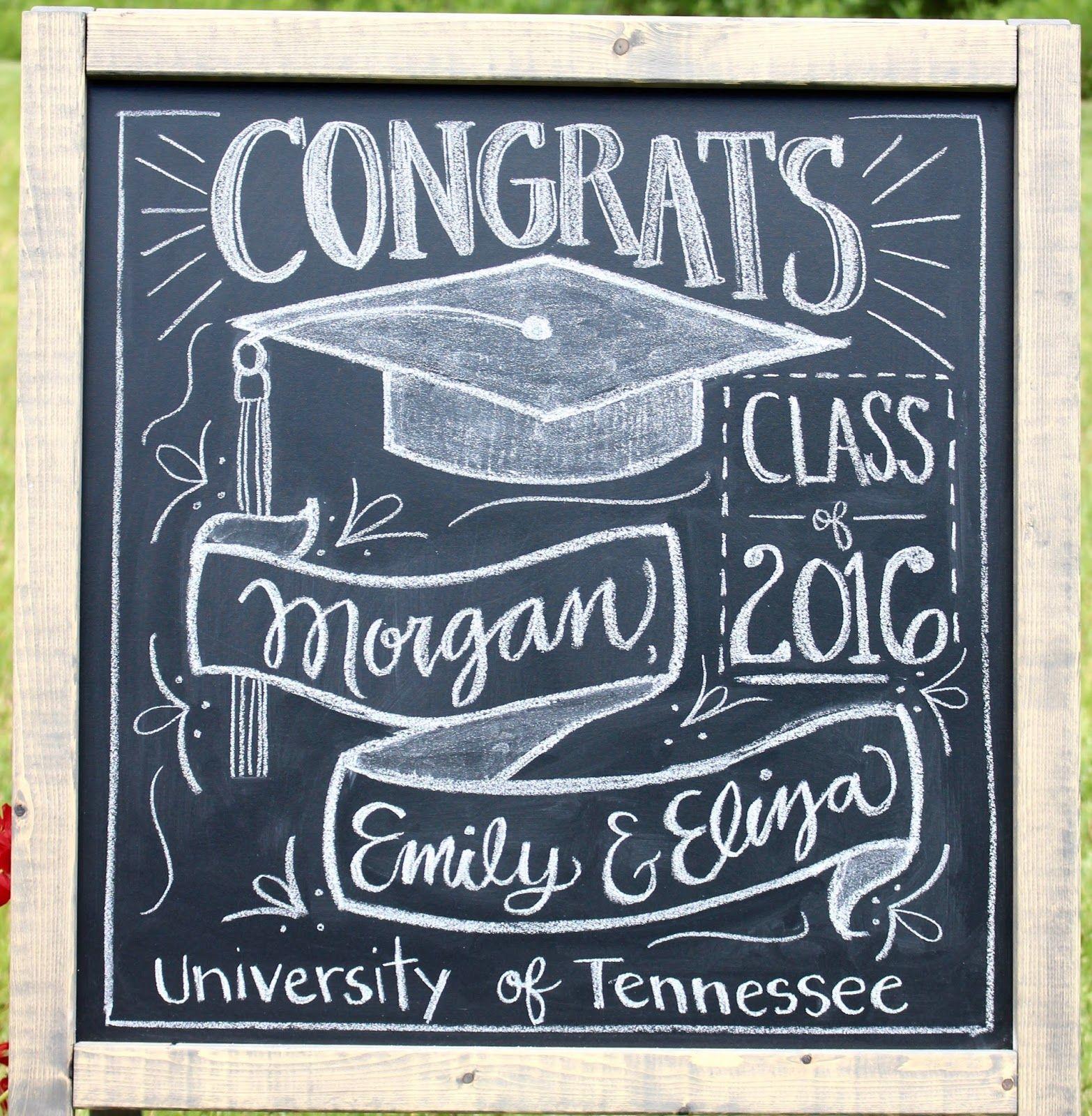 graduation party chalkboard decoration
