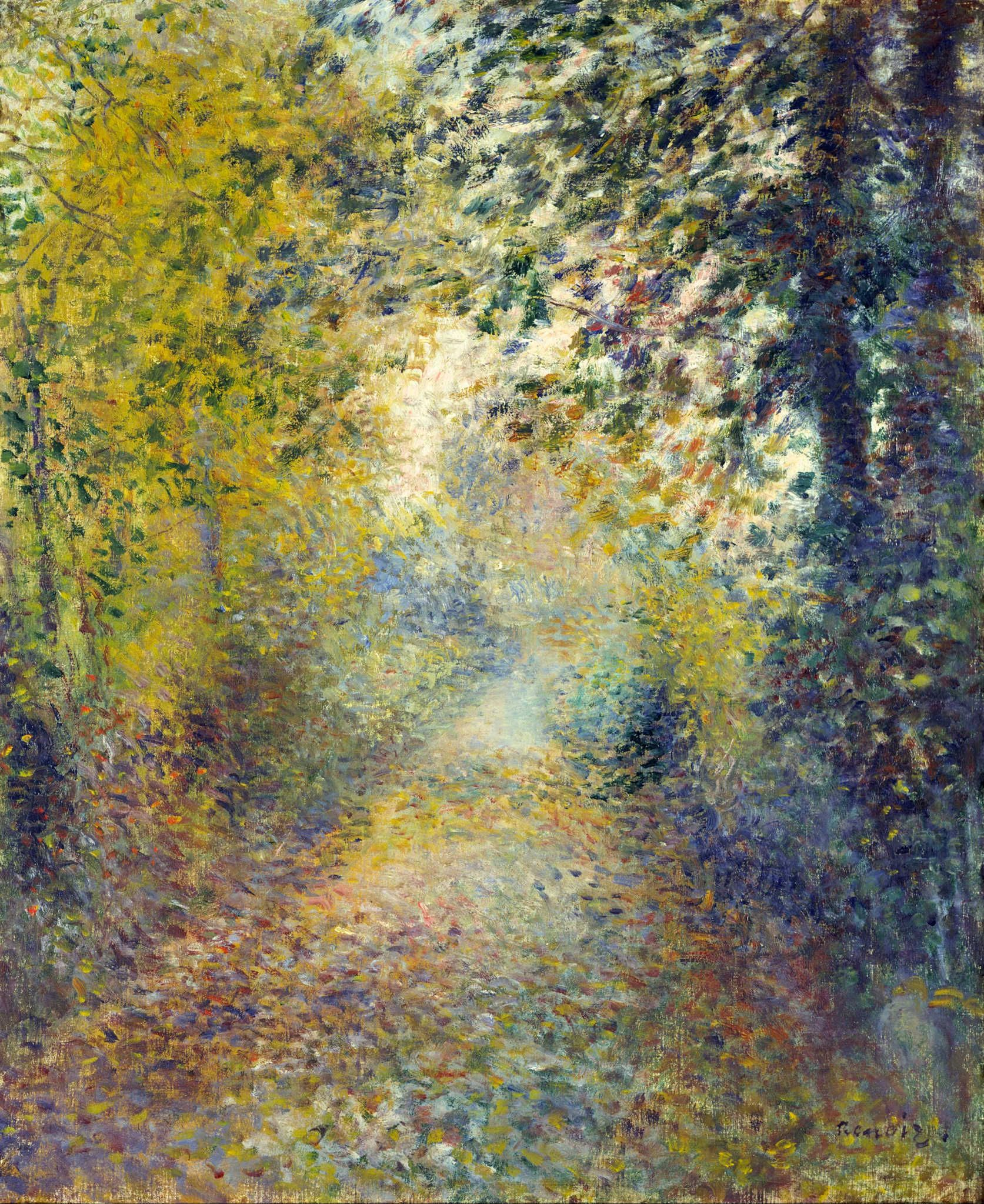 Liste Des Artiste Peintre Francais pierre-auguste renoir: in the woods, 1880. pinterest