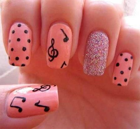 Amazing Music Notes Nail Art Designs, Ideas & Trends 2014 - Amazing Music Notes Nail Art Designs, Ideas & Trends 2014 Nails