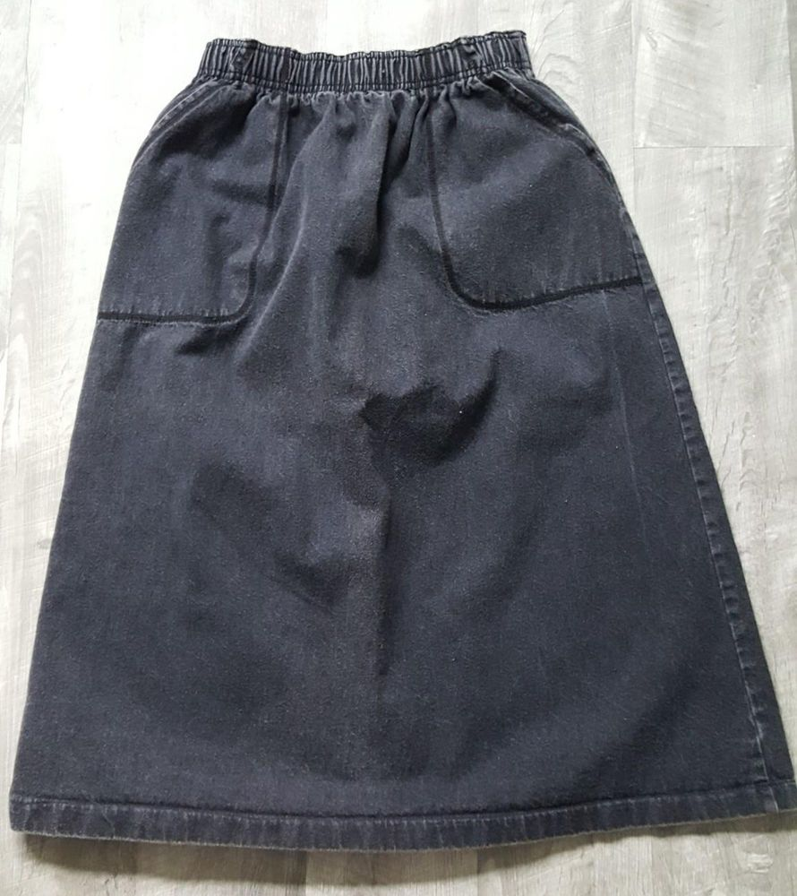 Details about Vintage 80s Evan Picone Pleated Skirt Size Medium Black Wool Midi High Waist is part of Vintage Clothes Grunge -