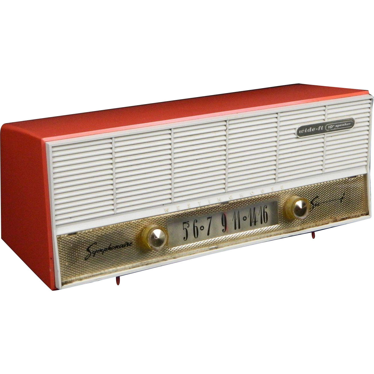 Retro Home Theater Design: Vintage 1959 Westinghouse AM Radio Model H-637T6 For Sale