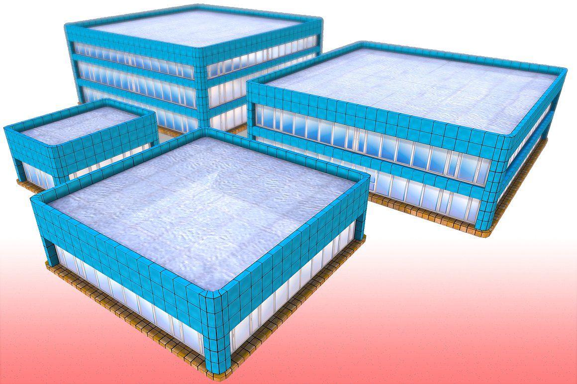 Toon Textured Office Building vertsvariationBigesttris