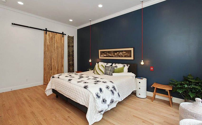 Off White Bedroom With Black Accent Wall Accent Wall Colors