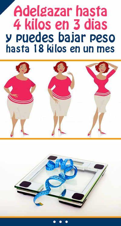 Dieta perder 3 kilos en 3 dias