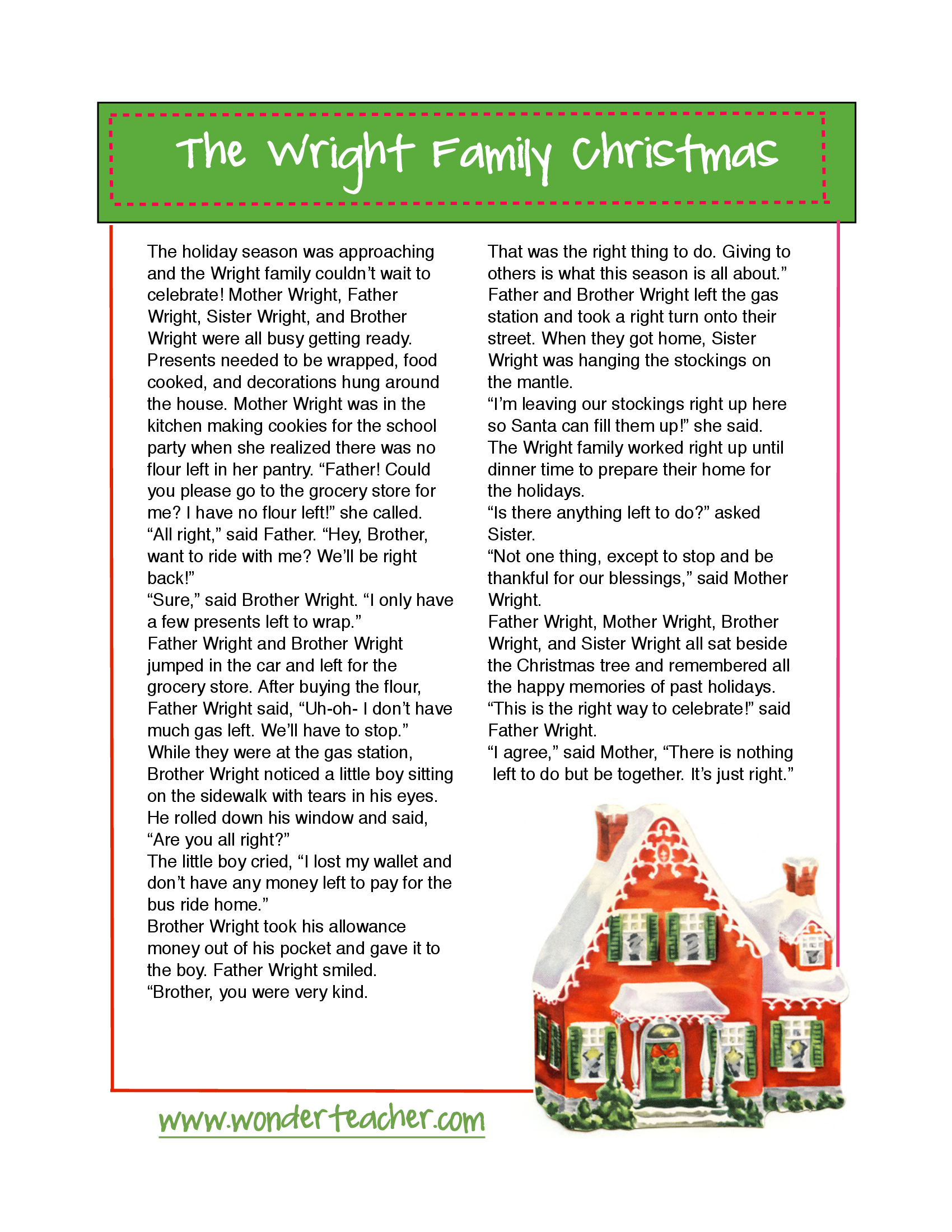 Wright Family Christmas Story | Holiday party ideas | Christmas ...