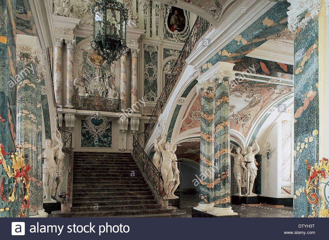 Germany Bruhl Augustusburg Palace Rococo Staircase Designed By Johann Balthasar Neumann Stock Photo Bruhl 18th Century Poster Prints