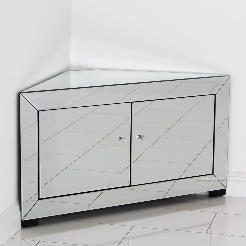 Perfect Venetian Mirrored Corner TV Cabinet
