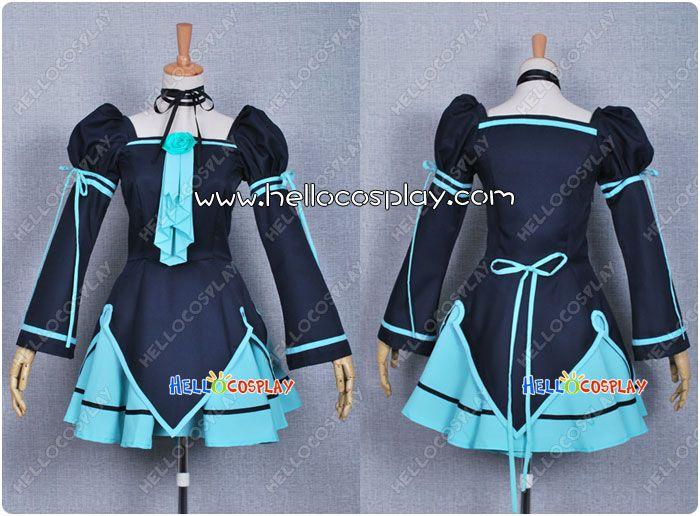 Vocaloid 2 Cosplay Hatsune Miku Doujin Lolita Dress