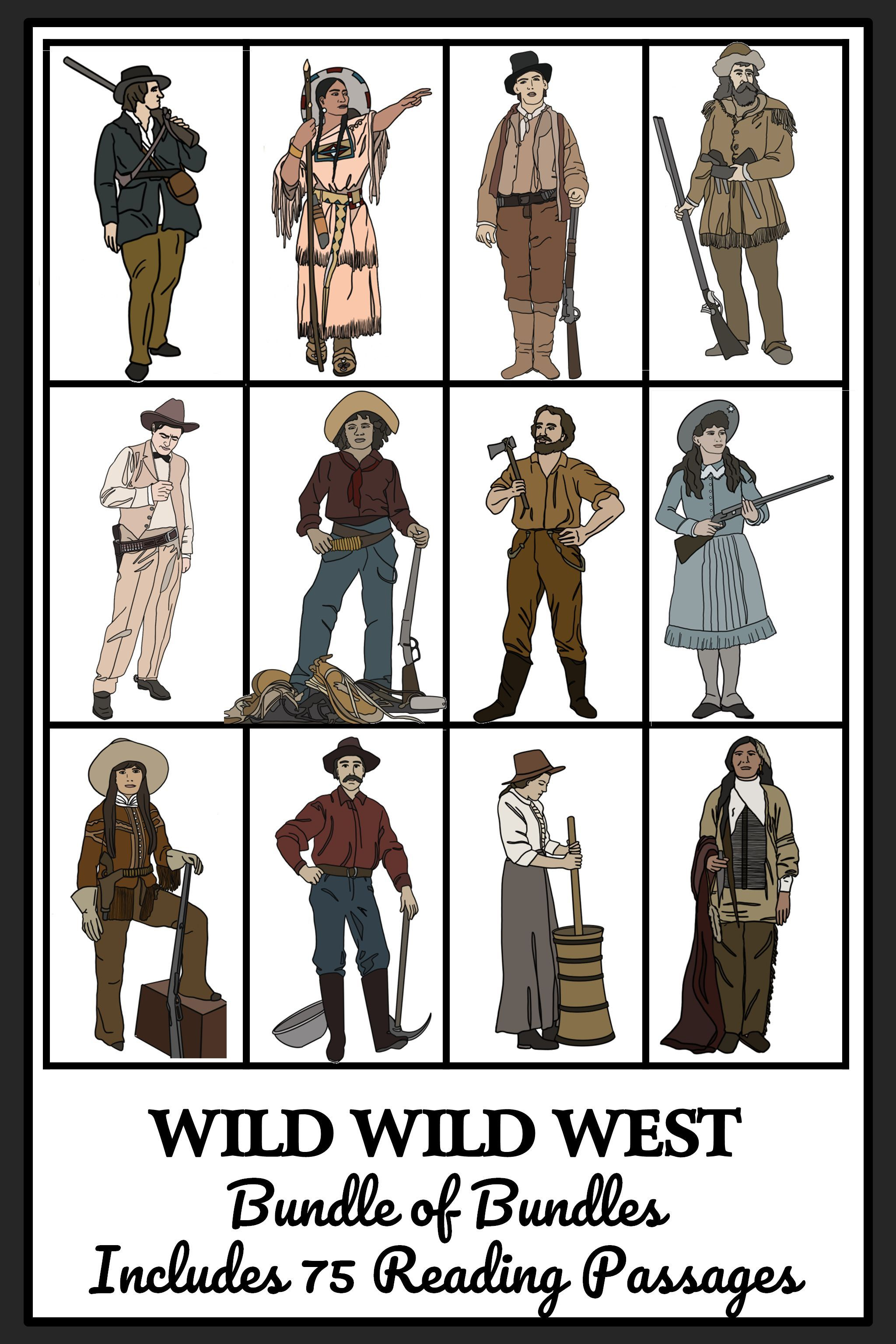 Wild West Life Mega Bundle Of Bundles Reading Comprehension Activities Bingo Reading Passages American History Lessons Trail Of Tears [ 3072 x 2048 Pixel ]