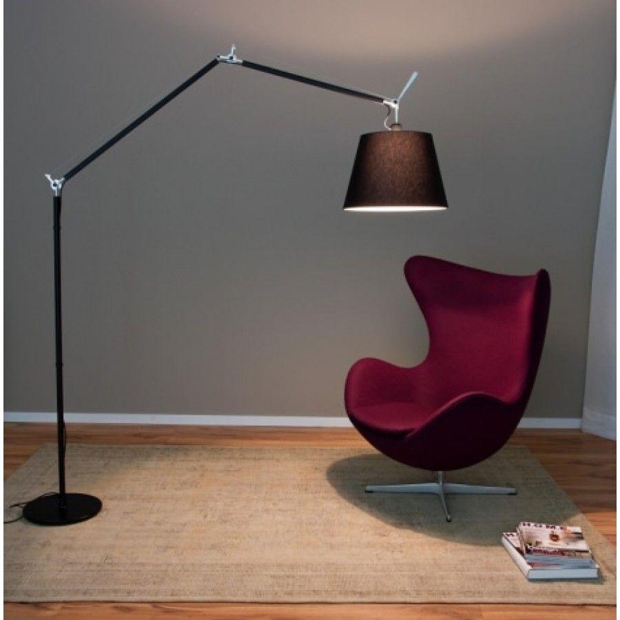Artemide Tolomeo Mega Black Floor Lamp Black Floor Lamp Home
